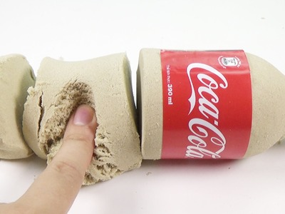 DIY How To Make 'Kinetic Sand Coca Cola'  Molds Fun & Creative for Children