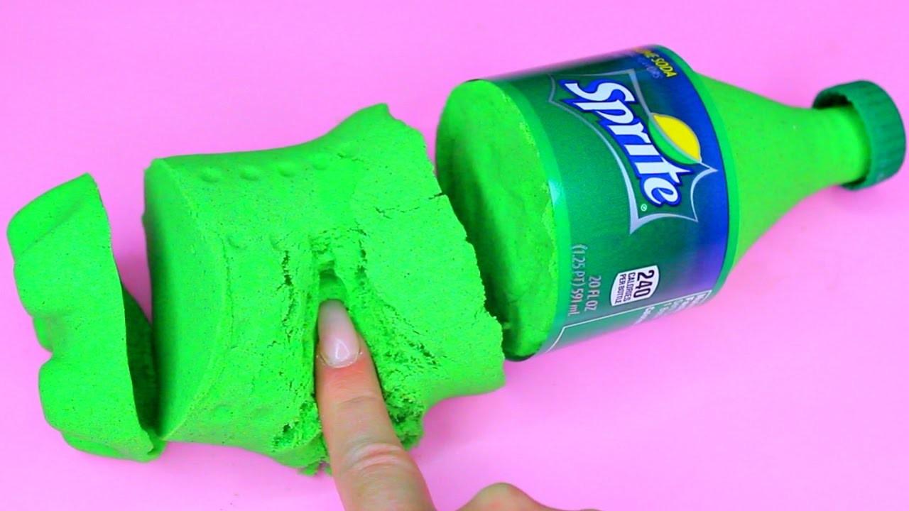 DIY How To Make 'Kinetic Sand SPRITE' Learn Colors Slime Foam Clay Icecream