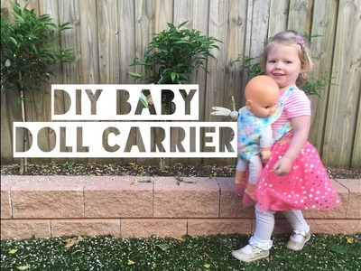 DIY KIDS DOLL CARRIER   DIY Sewing - Mummy Maker