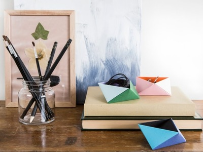 DIY: Make origami boxes by Søstrene Grene