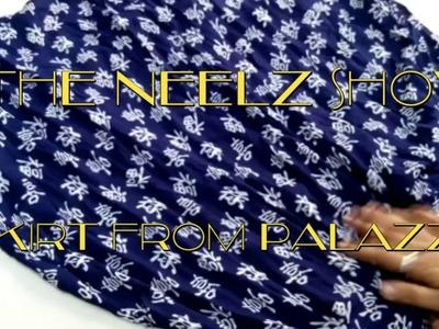 DIY - Make Skirt from old palazzo