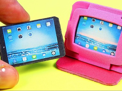 DIY Miniature Tablet. iPad + 2 Tablet Cases
