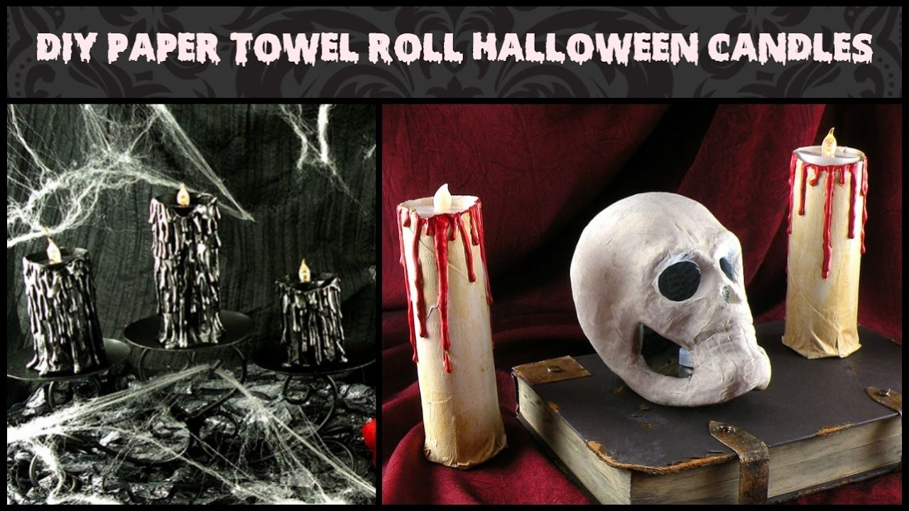 DIY Paper Towel Roll Halloween Candles - How to Make Halloween Candles