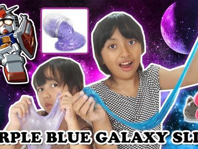 DIY Purple Blue Gliter Galaxy Slime | Tutorial Slime Bahasa Indonesia