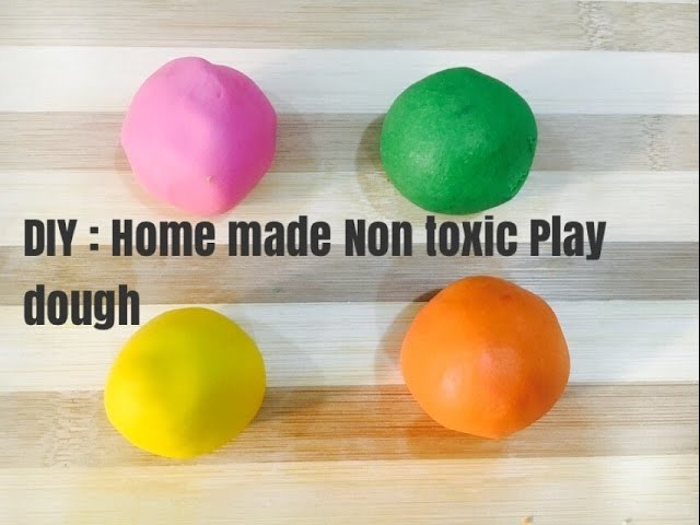 DIY: Quick n easy homemade play dough recipe | nontoxic for kids | no cook| kids learn and fun world