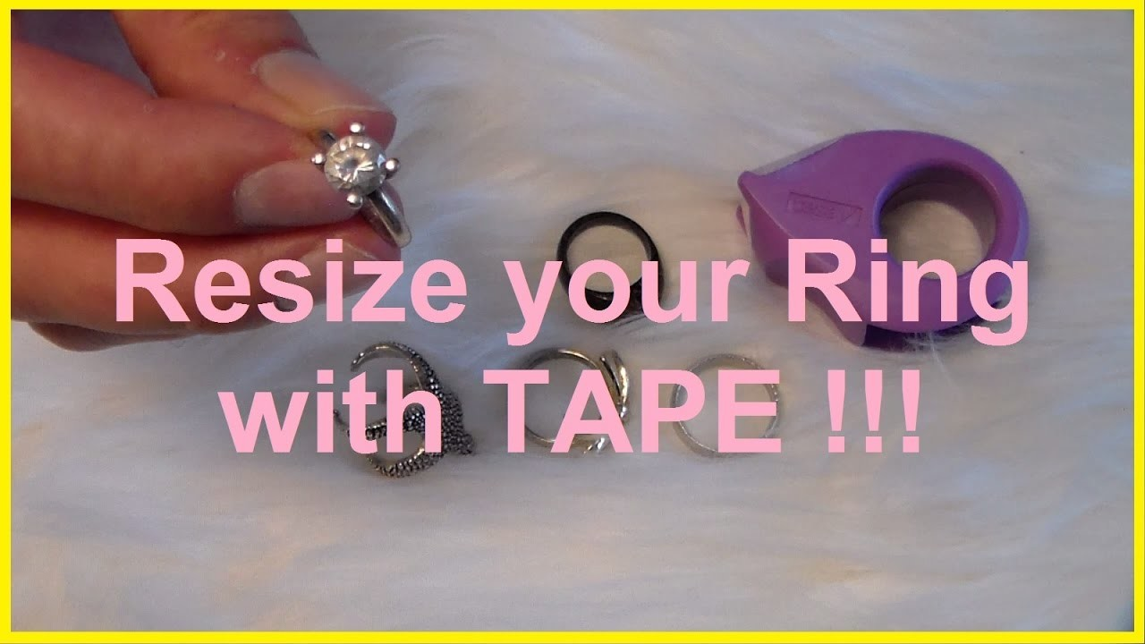 DIY Resize Ring smaller with Tape How To Make a Ring Smaller Lifehack resize a Wedding Ring
