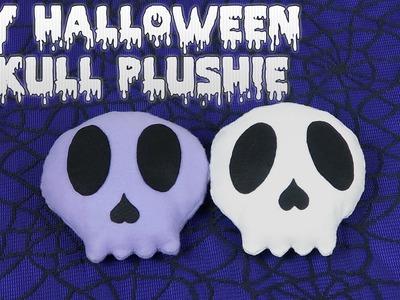 DIY Skull Plushie - How to make your own cute halloween skeleton plush toy cushion