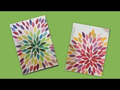 Easy Canvas art.beginners.Kids craft. Paper craft.home decor.school craft project