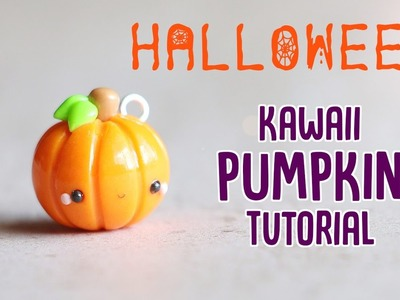 Easy Kawaii Pumpkin│Polymer Clay Halloween Tutorial