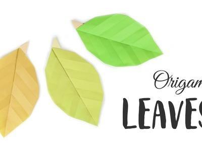 Easy Origami Leaf Tutorial