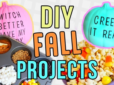 Fall DIYs You NEED To Try! DIY Pinterest Decor & Recipes!