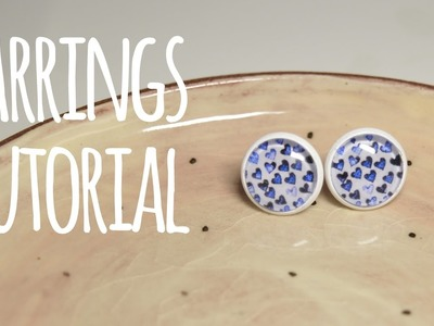 Glass and Paper Cabochon Earrings Tutorial