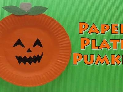 Halloween Craft - Paper Plate Pumpkin - Paper Plate Craft
