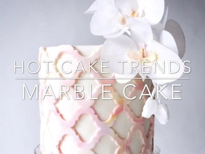HOT CAKE TRENDS 2016 Marble cake with Wafer paper Orchids - How to make by Olga Zaytseva