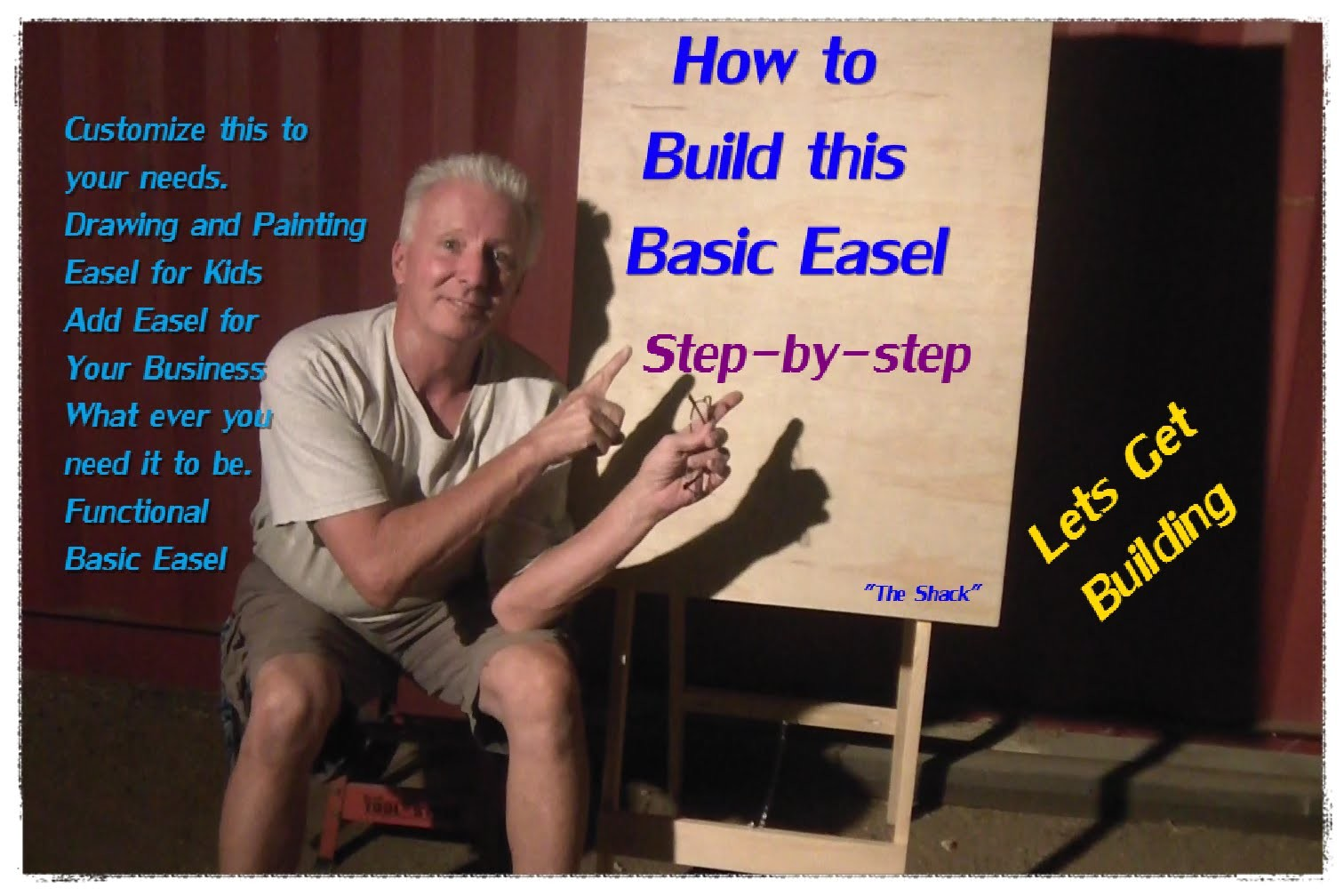 How to build a basic easel for display, kids, painting, It's all up to you.