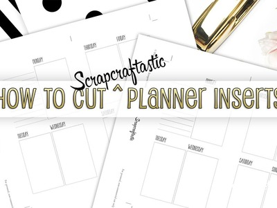 How to Cut Scrapcraftastic Planner Inserts with a Paper Trimmer