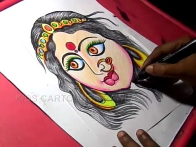 How to Draw Dussehra Greeting Color Drawing Step by Step for Kids