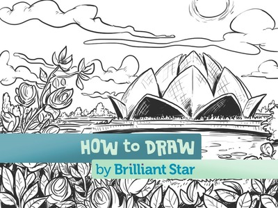 How to Draw the Lotus Temple: A Brilliant Star Series
