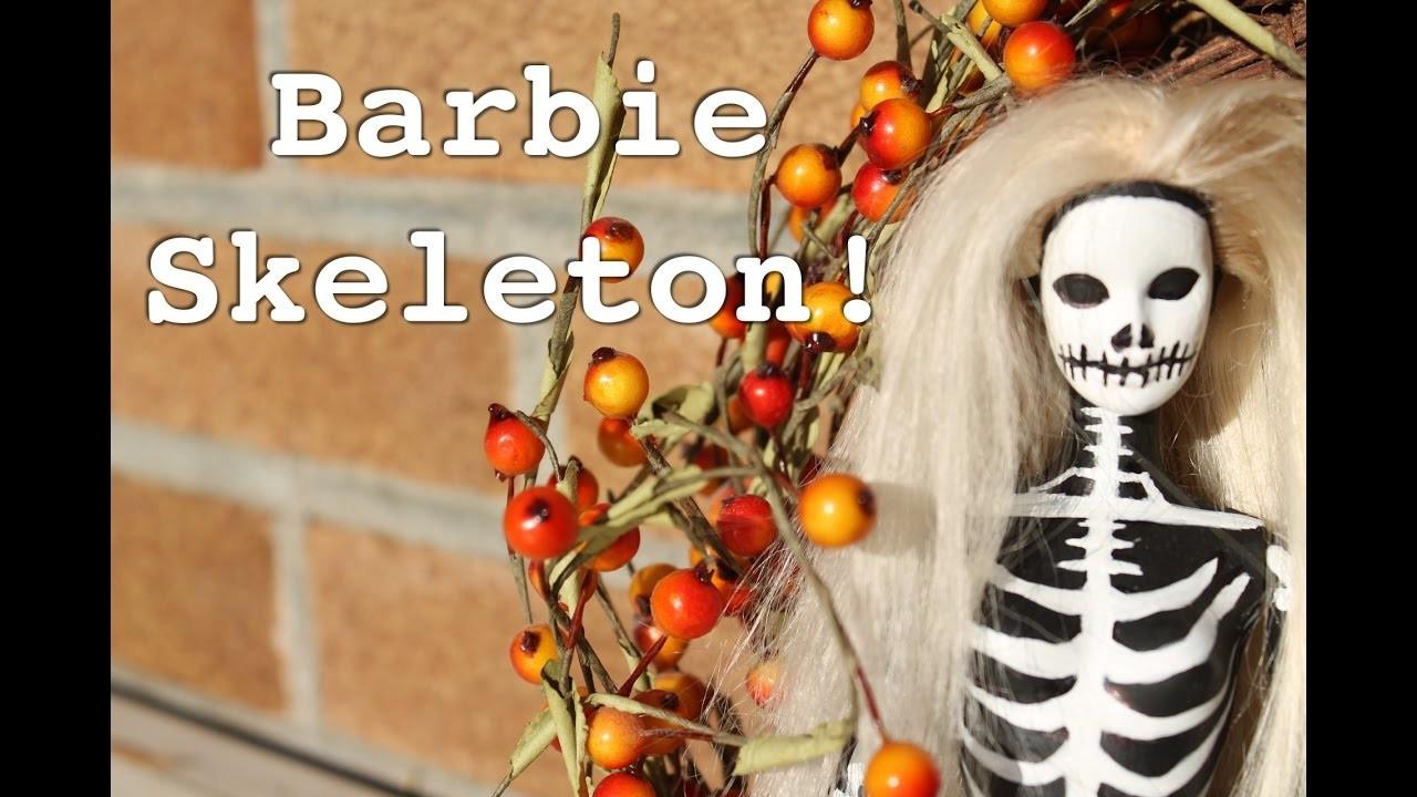 How to Make a DIY Halloween Barbie Skeleton! | TheKateeMeow
