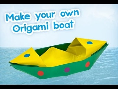 How To Make a Paper Boat That Floats - Origami(কাগজের নৌকা, পেপার বোট)