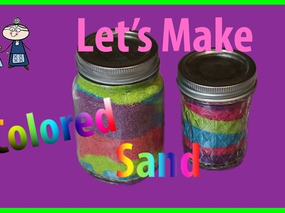 How to make COLORED SAND with Food Coloring ~ DIY Colored Sand for Sand Art ~ Sand Art for Kids