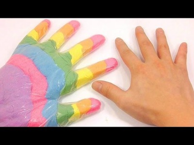 How To Make Finger Rainbow Colors Kinetic Sand Sand Real Play Slime Foam Clay | Baa Baa Black Sheep