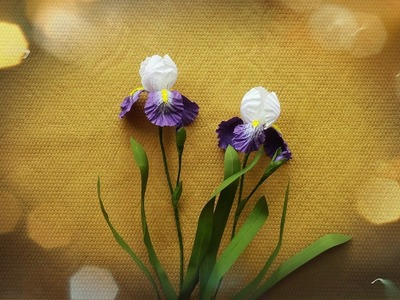 How To Make Iris Flower From Twisted Paper Rope - Craft Tutorial