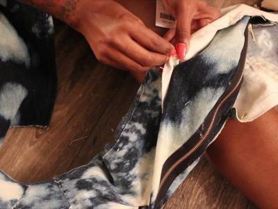 Kim K Inspired Jean Boots DIY