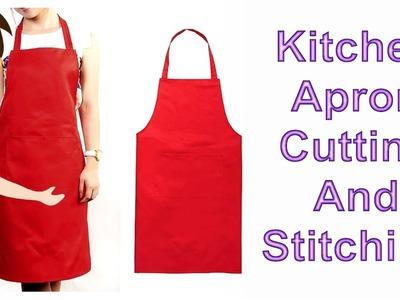 Kitchen Apron Cutting And Stitching | English | DIY - Tailoring With Usha