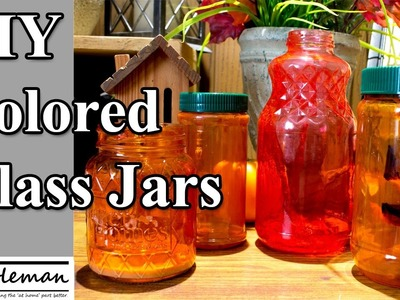 Make Your Own Colored Glass Jars, An Easy DIY