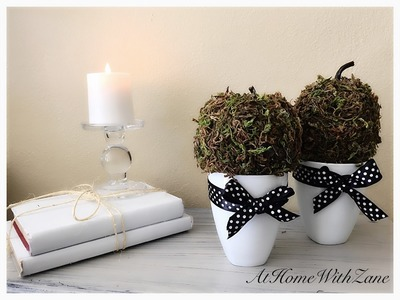 Moss Pumpkins - DIY Elegant, Sophisticated, Timeless Decor for Any Season