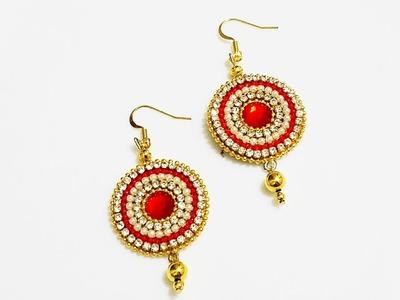 Paper Base Earrings||Party wear earrings||Paper Jewelry (Tutorial)