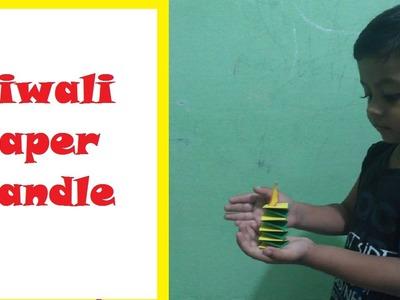 Paper Craft (Diwali Decoration ideas)- Paper Candle