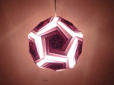 Paper Craft (Home Decoration Ideas): Beautiful Pentagonal Lantern -Christmas Decor