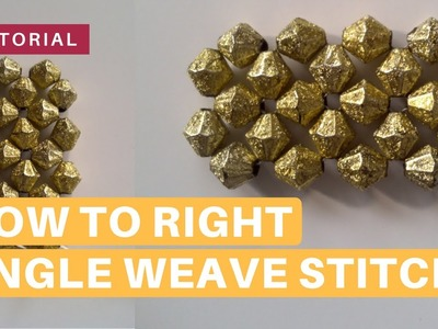 Right Angle Weave Stitch | How To Tutorial