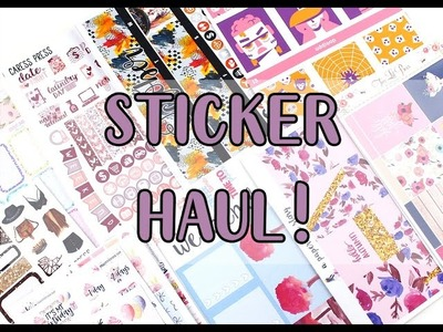 Sticker Haul: Two Lil' Bees, Hello Petite Paper, Caress Press, + more!   MandyPlans
