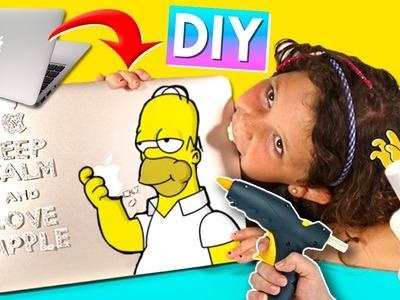 The SIMPSONS Laptop VINYL STICKER * DIY Simpsons laptop VINYL with HOT GLUE