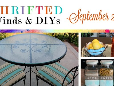 Thrifted Finds & DIY Projects: September 2016