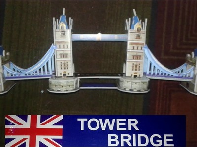 Tower Bridge  Puzzle | Making DIY Tower Bridge At Home With Foam Board