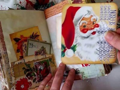VINTAGE CHRISTMAS JUNK JOURNAL - DT Project for Tsunami Rose for September - **SOLD**