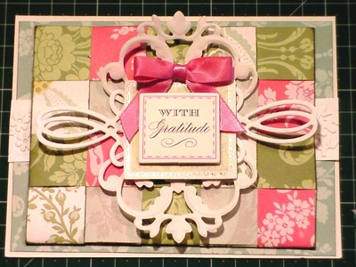 132.Cardmaking Project: Anna Griffin Paper Weaved French Floral Card
