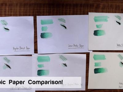 Copic Marker Paper Comparison