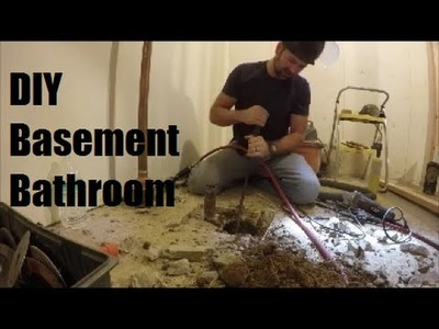DIY Basement Bathroom on a budget | How to put a bathroom in your unfinished basement | The Handyman