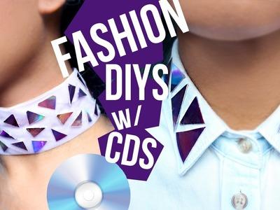 DIY Choker & Shirt Collar (Recycle CDs)