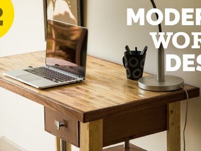 DIY Modern style desk – How to Build