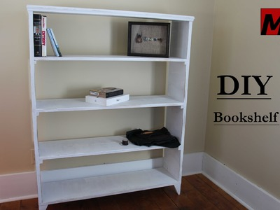 How to Make a Bookshelf == DIY 1 Hour Build w. Reclaimed Wood