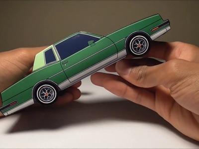 JCARWIL PAPERCRAFT 1981 Pontiac Grand Prix (Building Paper Car) Time Lapse