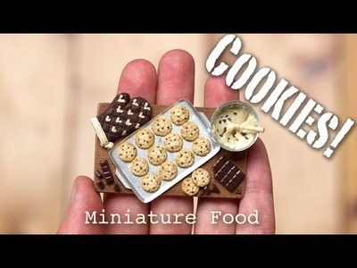 Miniature Cookies Tutorial. Fimo Foods, Polymer Clay Sculptures