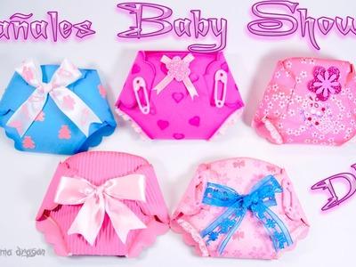 Pañales para Baby Shower con foamy y Cartulina  Diy  Craft - Invitaciones