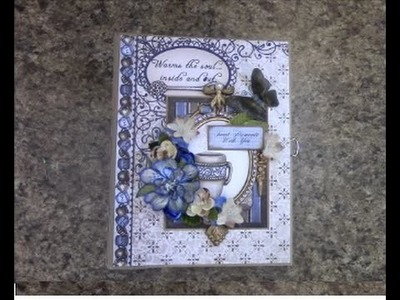 PART 1 TUTORIAL 7X9 MINI ALBUM with HEARTFELT CREATIONS COFFEE TALK PAPER - DESIGNS BY SHELLIE